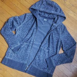BKE grey zip up hoodie
